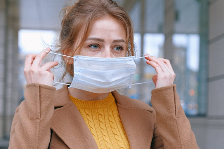 surgical masks are disposable and should be worn if an N95 mask is not available