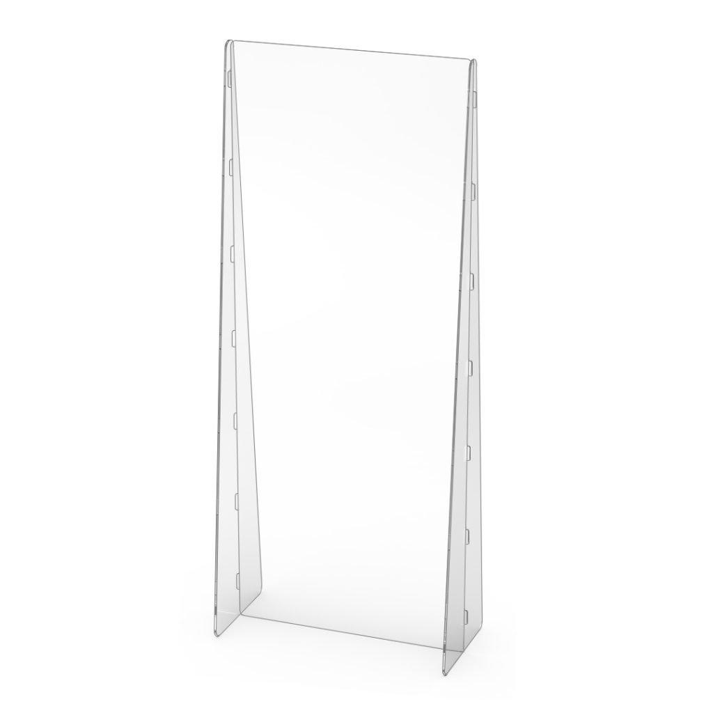 """quarter view 24"""" x 60"""" freestanding desk partition"""