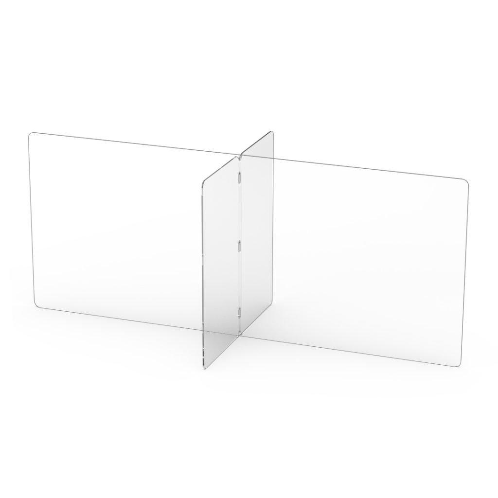 "quarter view 72"" x 30"" workspace divider"