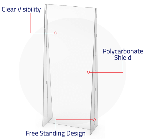 illustration of red cape essentials' freestanding desk partitions specifications